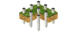 фундамент на жб сваях с монтажной пластиной
