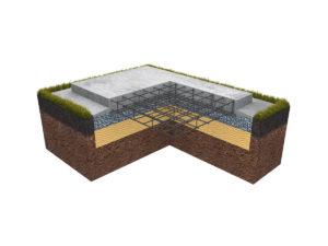 классический плитный фундамент