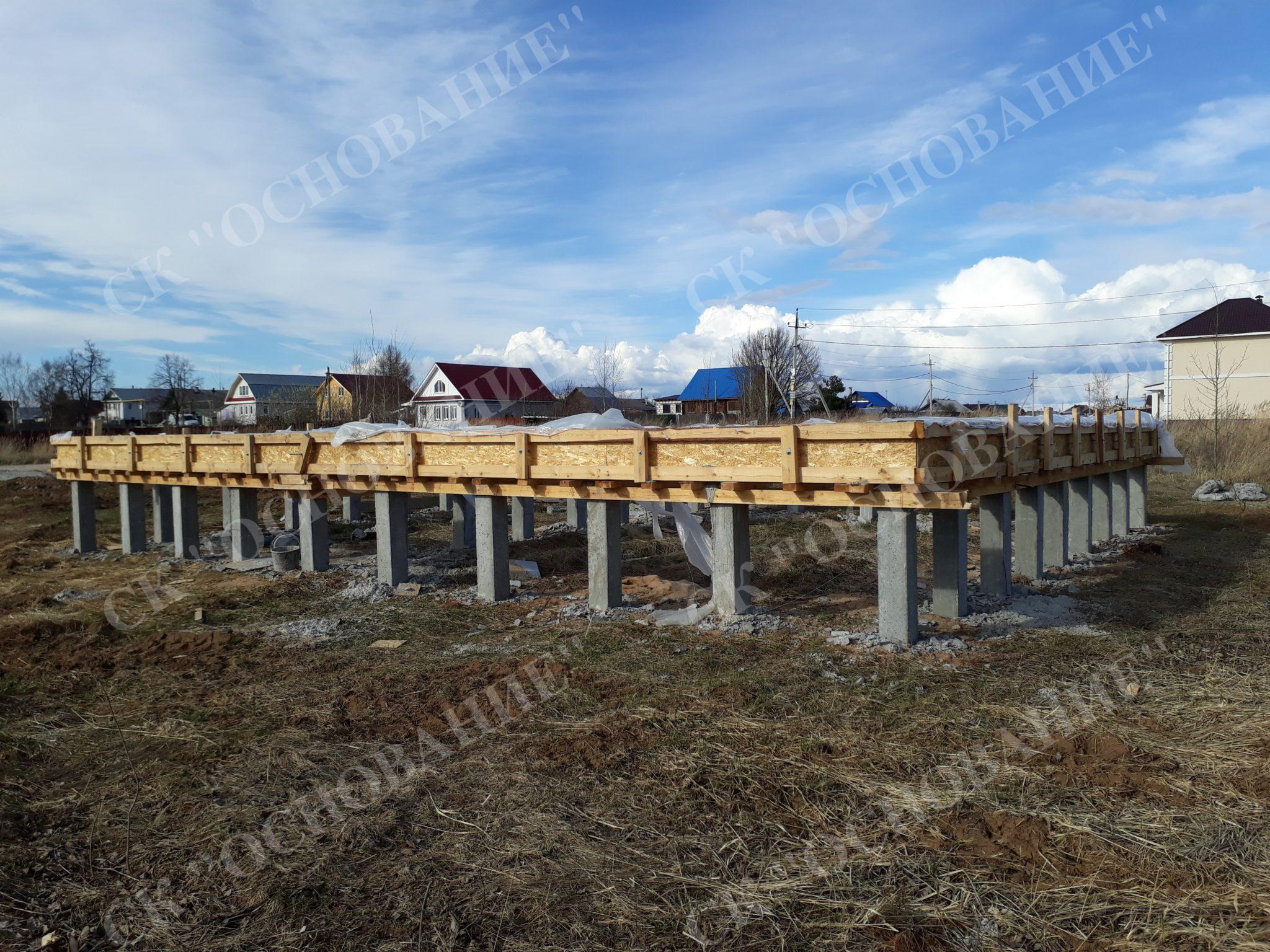Строительство свайных фундаментов домов в Мытищах